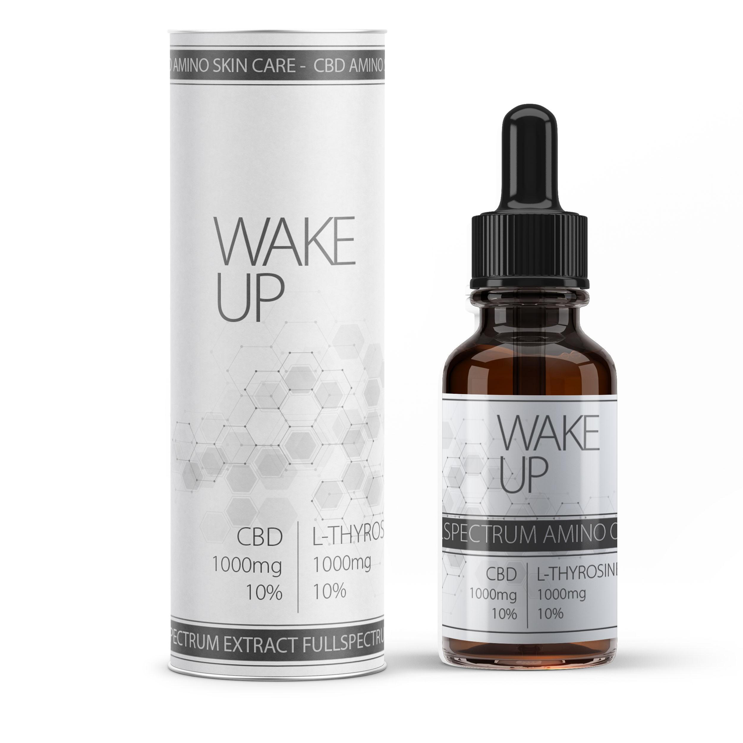 """""""Wake Up"""" CBD Vollspektral-Öl mit 10% L-Tyrosin Aminosäure"""