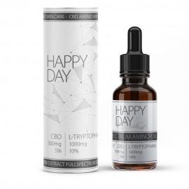 """""""Happy Day"""" CBD Vollspektral-Öl mit 10% L-Tryptophan Aminosäure"""
